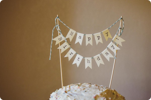 Happy Birthday Cake Banner from Lingering Daydreams