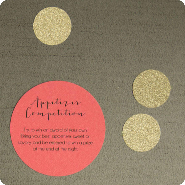 Appetizer Competition Oscar Party Invitation Insert