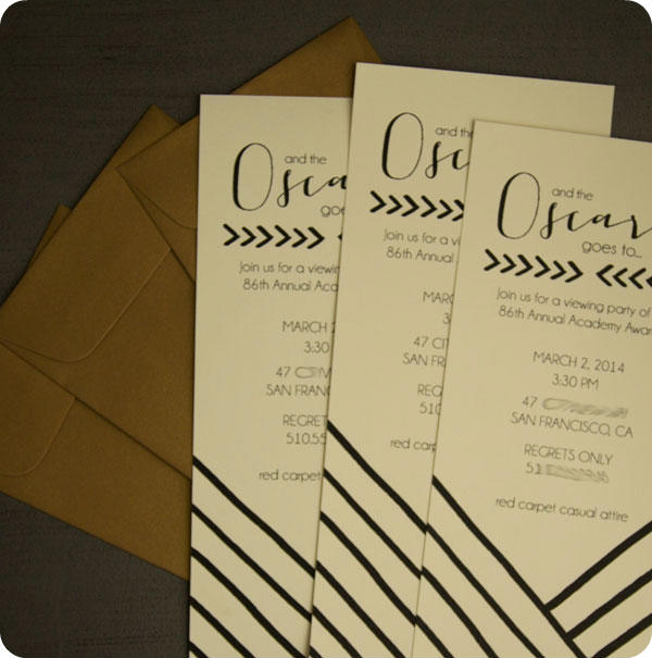 oscar party} invitations - lingering daydreams