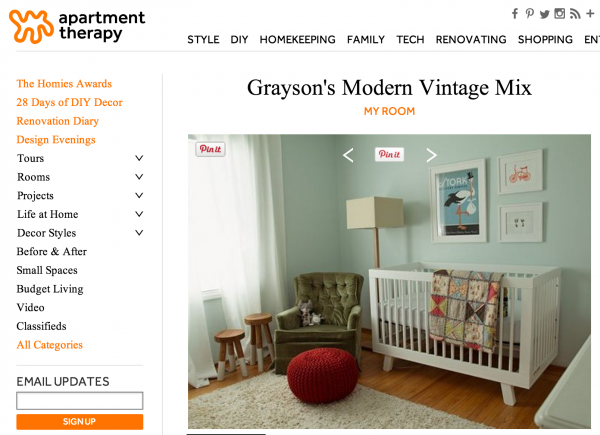 Grayson S Nursery On Apartment Therapy