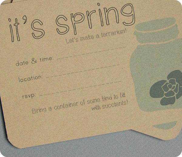 Printable Terrarium Party Invite