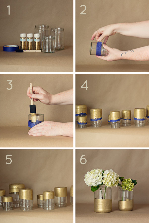 Dip Dyed Centerpieces - Step by step instructions