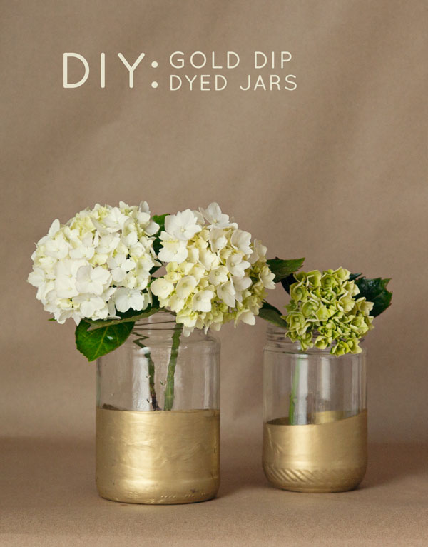 DIY Dip Dyed Centerpieces - Step by step instructions