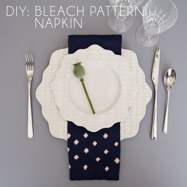 DIY - Bleach Pattern Napkin