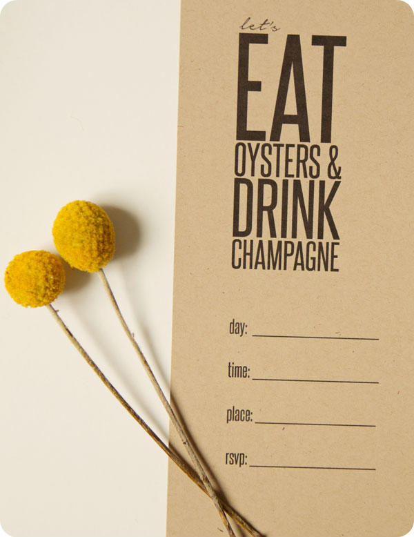 Oyster Party - Printable invitation