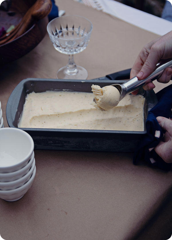 Oyster Party - Cantaloupe Mint Ice Cream