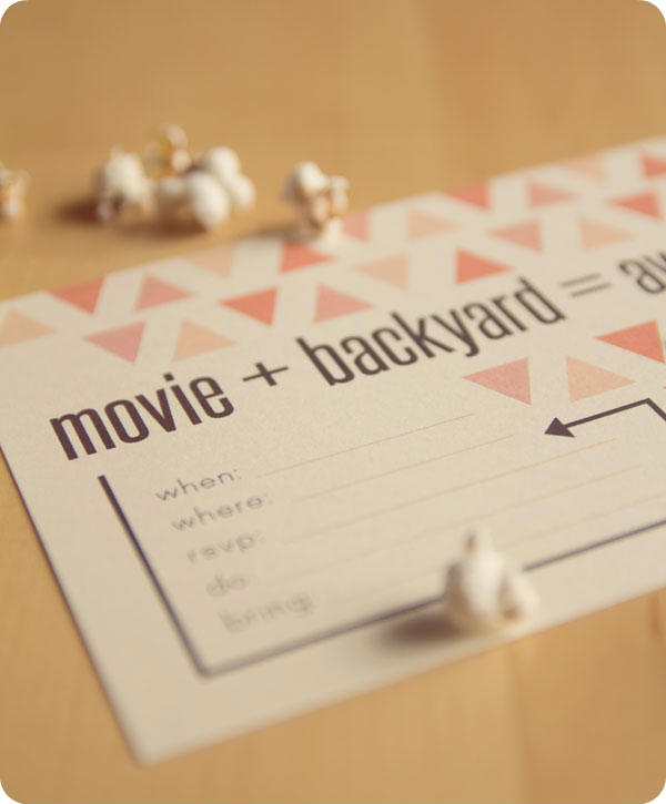 Printable Invite: Backyard Movie Night