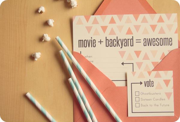 backyard movie night printable invite lingering daydreams