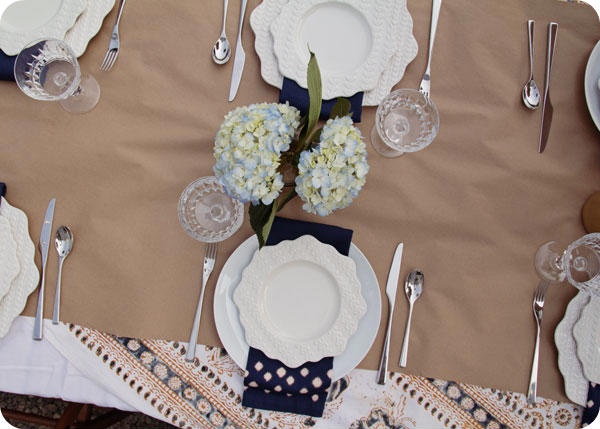 Oyster Party - Table setting