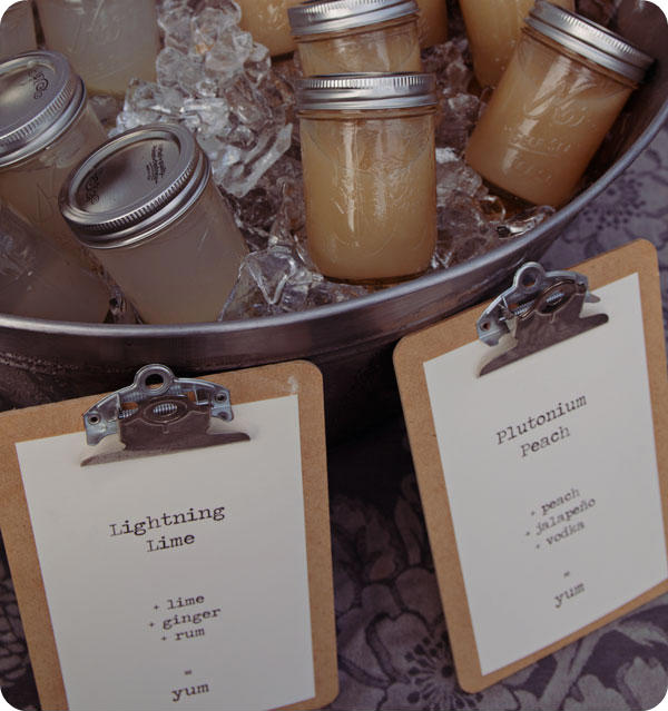 Backyard Movie Party - Mason Jar Drinks