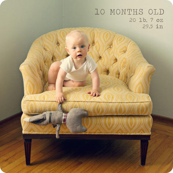 Monthly Baby Photo - 10 months