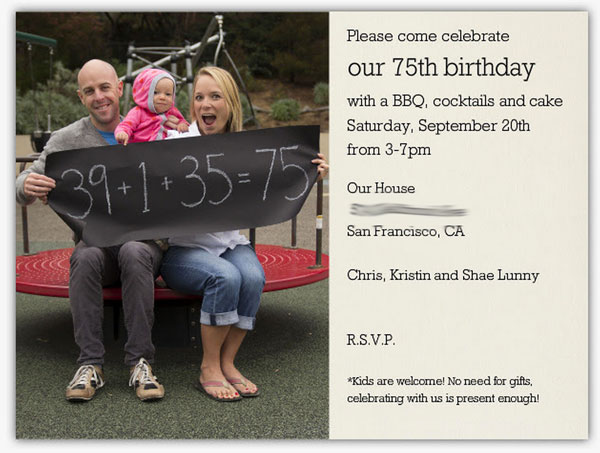 Paperless Post - Joint birthday party paperless invitation