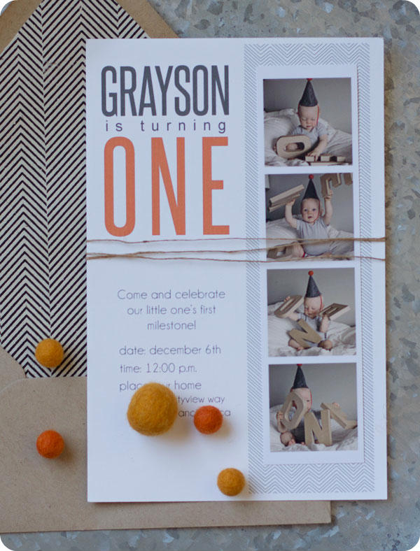 1_Grayson-First Birthday - Invites