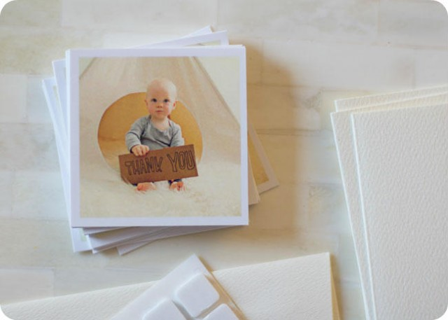 DIY - First birthday thank you cards